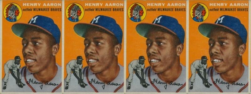 Hank Aaron Rookie Cards 1954 Topps Hank Aaron